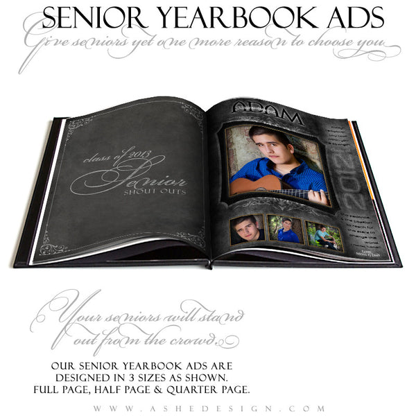 Tattooed Yearbook Templates for Photographers