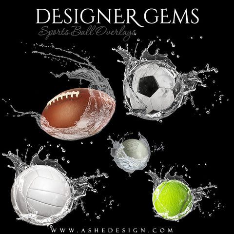 Designer Gems - Waterball Overlays Set 1