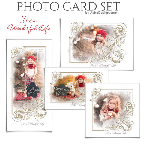 Christmas Photo Card Set - It's A Wonderful Life