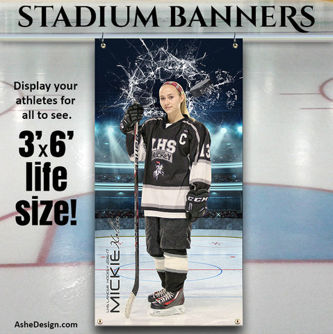 Amped Stadium Banner 3'x6' - Smashing Through Hockey