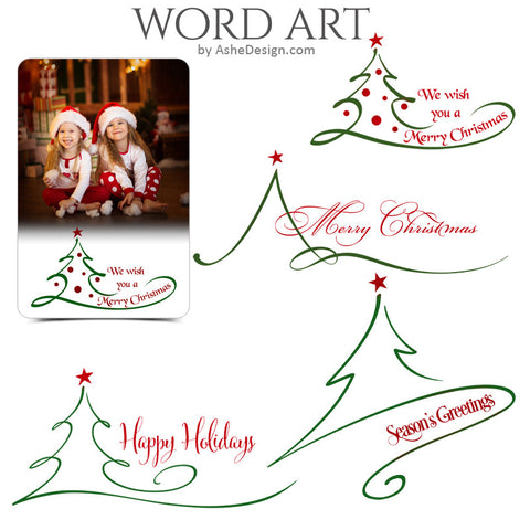 Christmas Word Art Set - O Tannenbaum