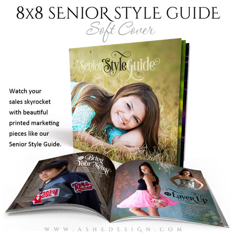 8x8 Soft Cover Marketing Photo Book | Senior Style Guide cover