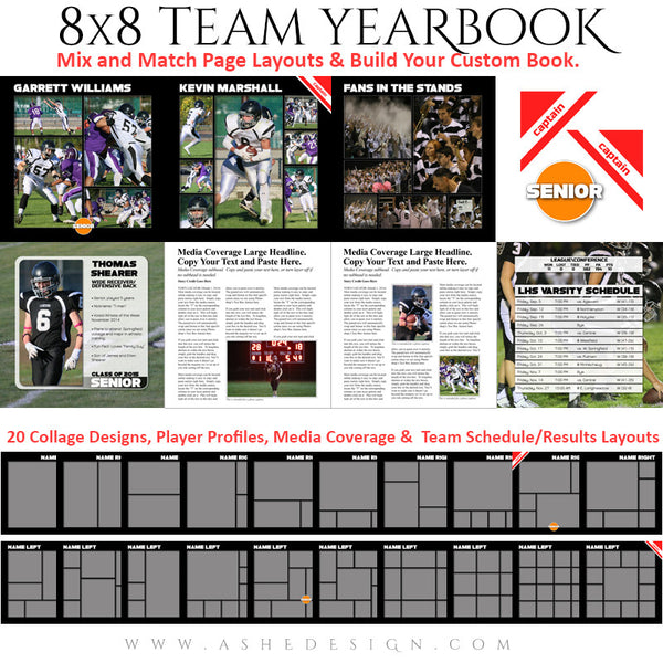 Sports 8x8 Soft Cover Photo Book  | Simply Sports Yearbook pages