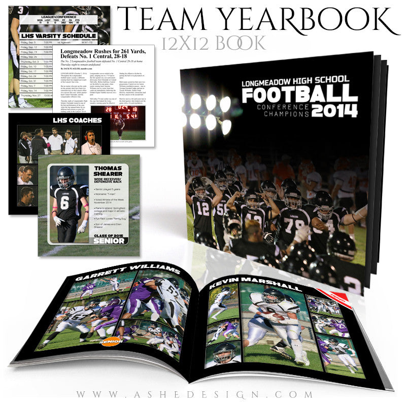 Sports 12x12 Photo Book Template  | Simply Sports Yearbook