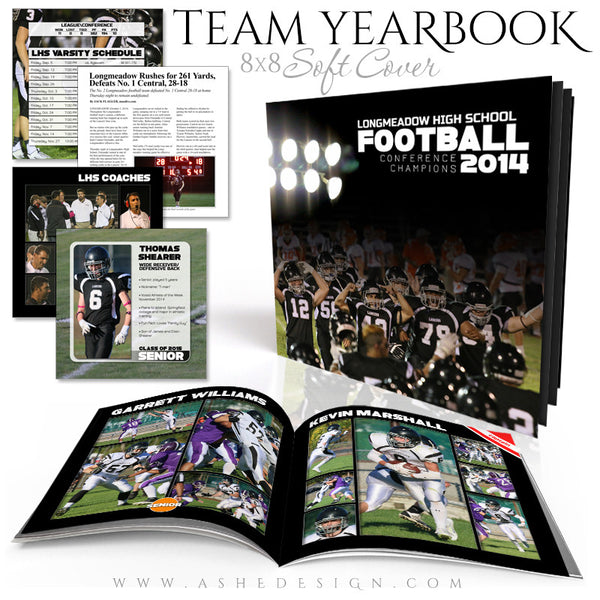 Sports 8x8 Soft Cover Photo Book  | Simply Sports Yearbook