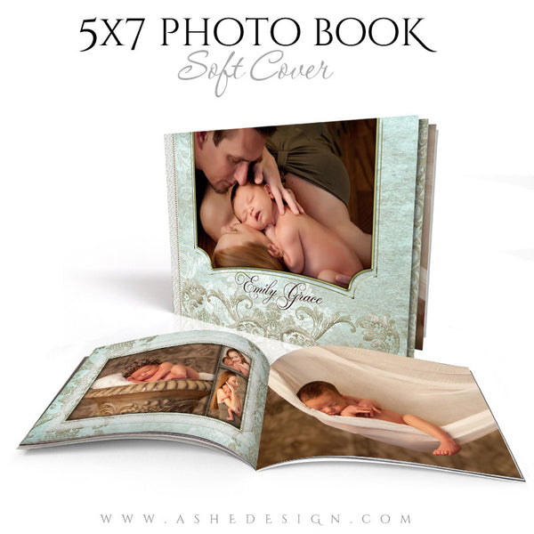 Tiffany Damask 5x7 Soft Cover Photo Book Templates cover