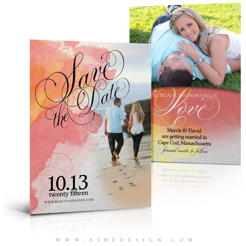 Save The Date Photography Templates | Watercolor