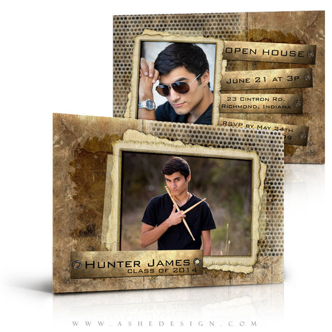 Hunter James 5x7 Flat Card full view web display