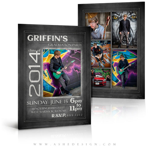 Chalkboard Sr Boy 2014 - 5x7 flat card full set web display
