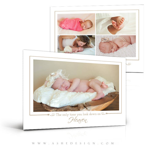 5x7 Birth Announcement | Looking Down On Heaven