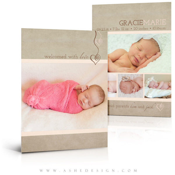 Girl Birth Announcement Templates | Gracie Marie