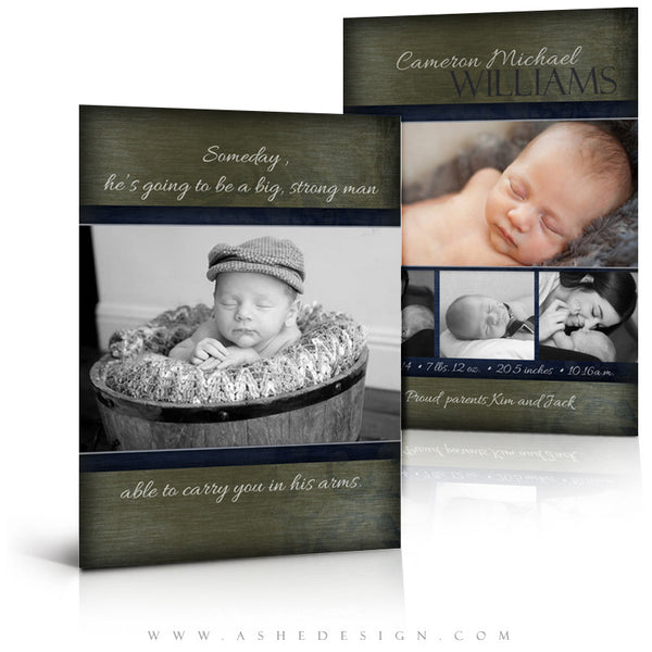 Boy Birth Announcement Templates | Cameron Michael