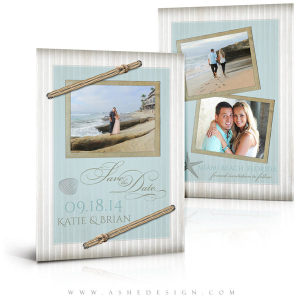 Save The Date Photography Templates | By The Seashore