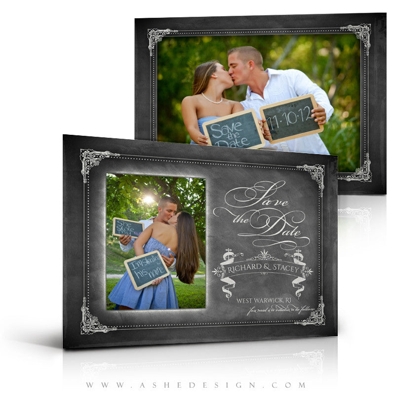 Save The Date Photography Templates | Chalkboard