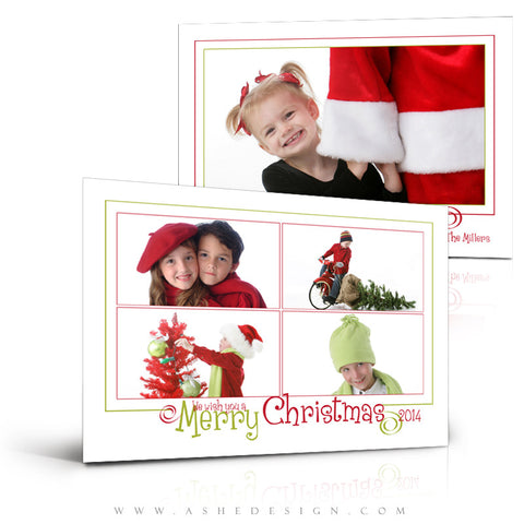 Christmas Card Photoshop Templates | We Wish You A Merry Christmas