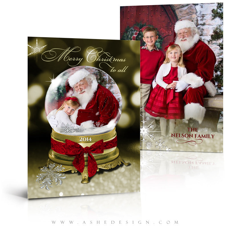 Christmas Card Photoshop Templates | Golden Globe