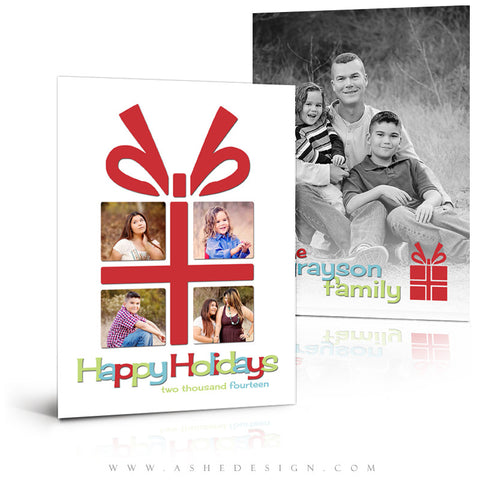 Christmas Card Photoshop Templates | The Gift