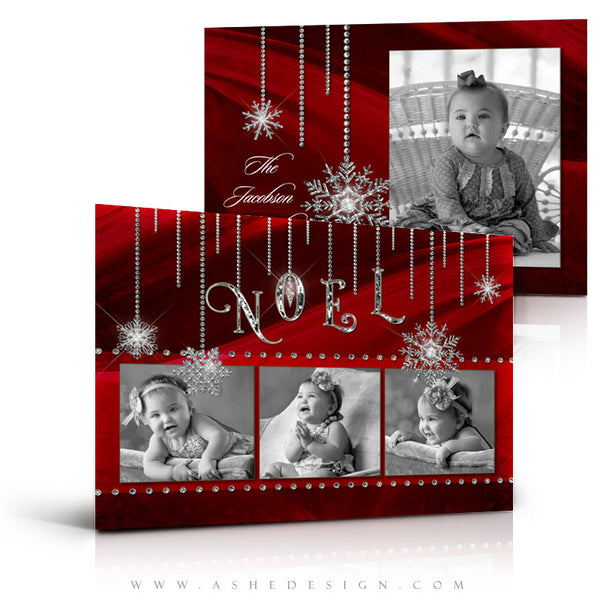 Christmas Card Photoshop Templates | Noel