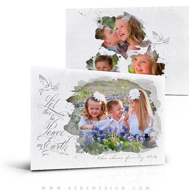 Christmas Card Photoshop Templates | Let There Be Peace
