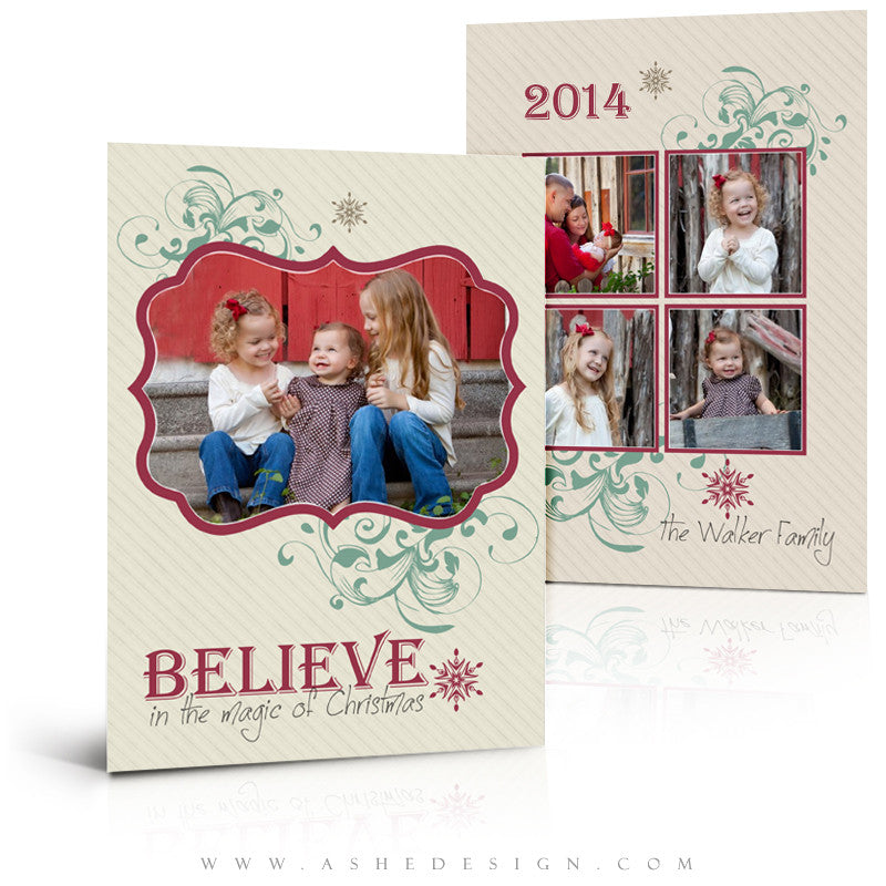 5x7 Flat Christmas Card - Christmas Magic