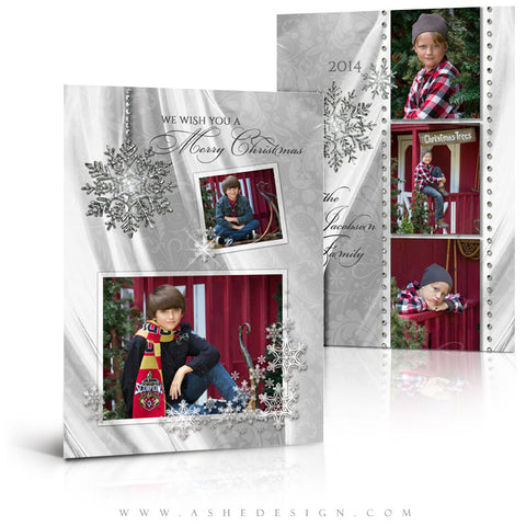 Christmas 5x7 Flat Card Templates | Dreaming Of A White Christmas