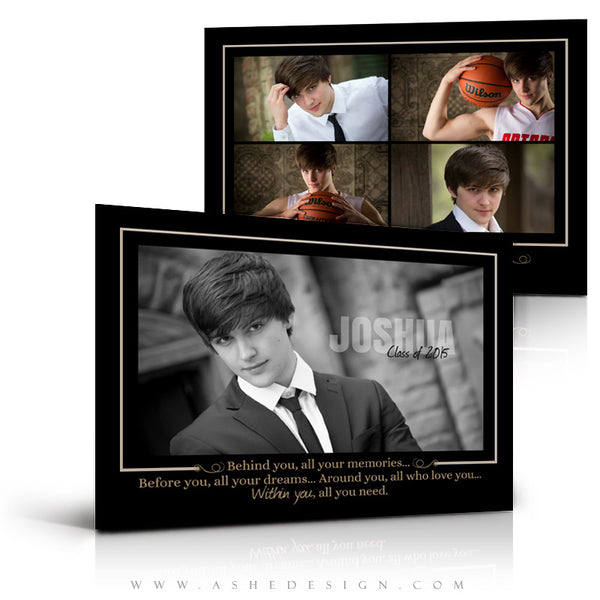 Senior Boy Graduation Invitation Template | Within You