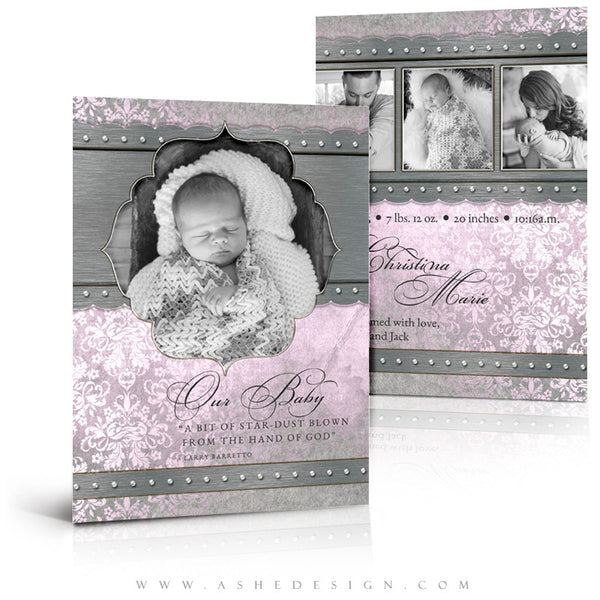 Girl Birth Announcement | Christina
