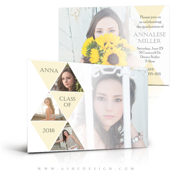 Senior Girl 5x7 Graduation Card | Symmetry