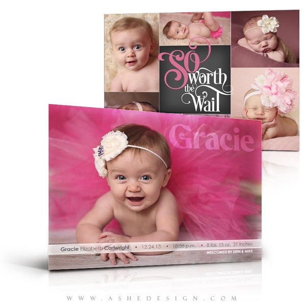 Worth The Wait 5x7 Flat Card full set web display