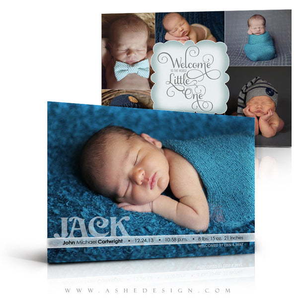 Birth Announcement 5x7 Flat | Welcome Little One