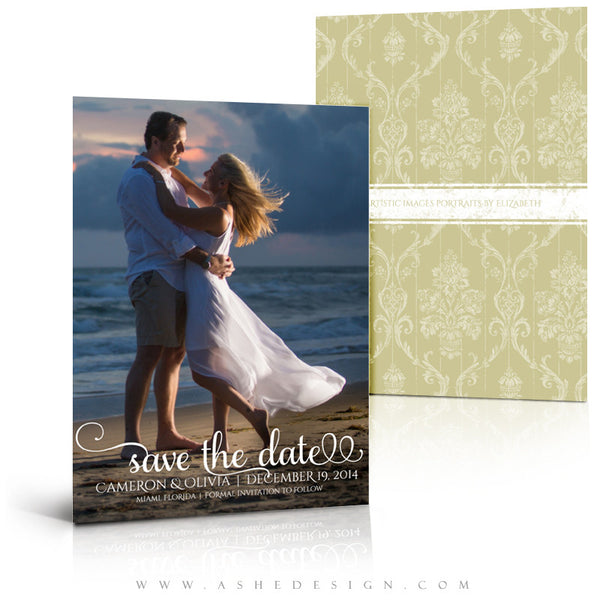 Save The Date Templates | Damask Elegance