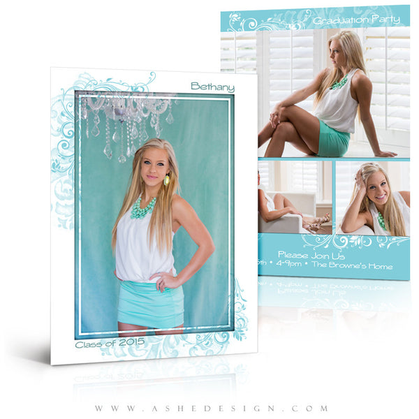 Senior Graduation Template | Color Block full set web display