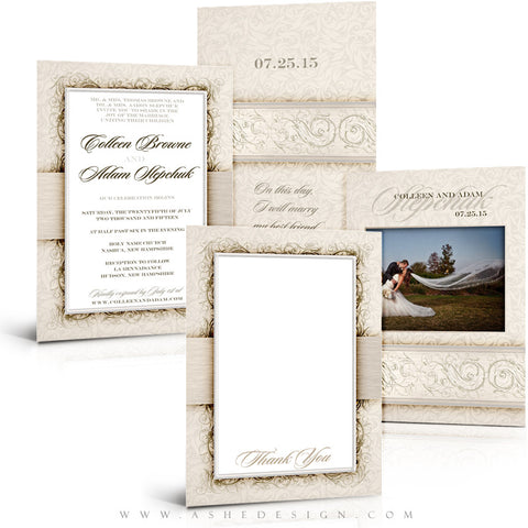I Do Wedding Invitation & Thank You Template Set