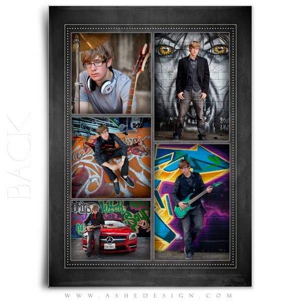 Chalkboard Sr Boy 2014 - 5x7 flat card back web display