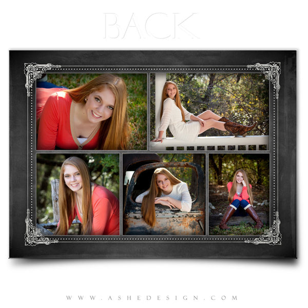 Chalkboard Sr Girl 2014 - 5x7 Flat Card back web display