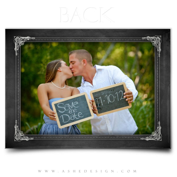 Save The Date Photography Templates | Chalkboard back