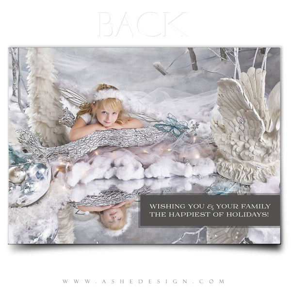Christmas Card Photography Template | Color Block Holiday back