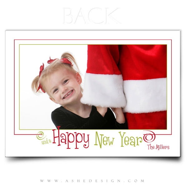 Christmas Card Photoshop Templates | We Wish You A Merry Christmas back