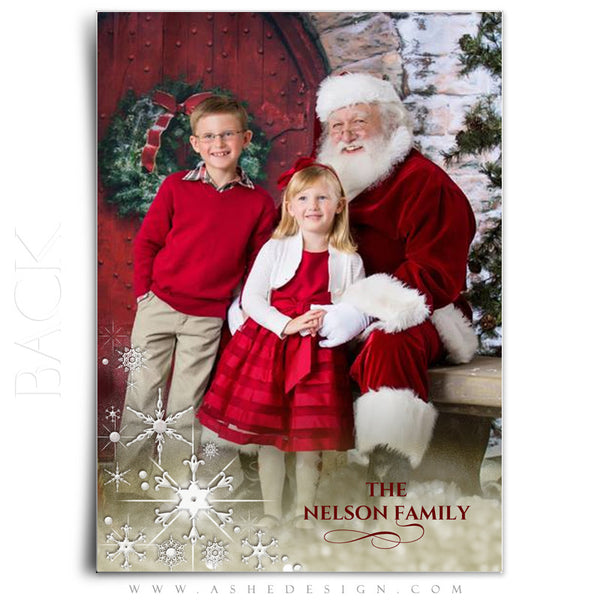 Christmas Card Photoshop Templates | Golden Globe back