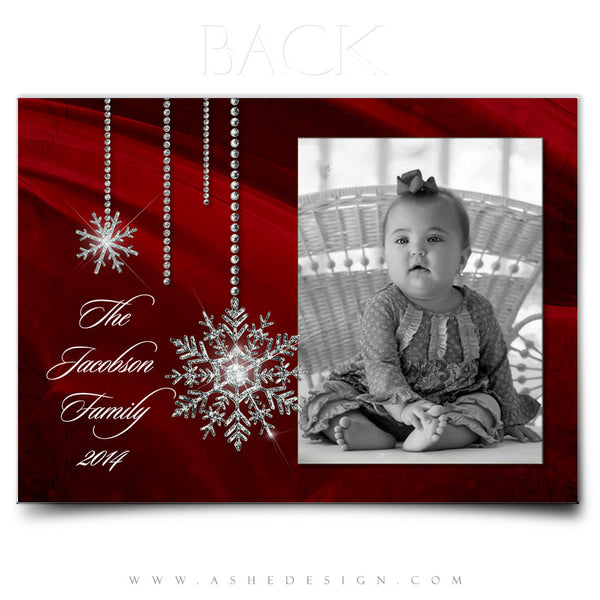 Christmas Card Photoshop Templates | Noel back