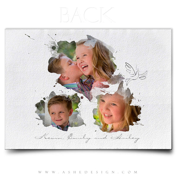 Christmas Card Photoshop Templates | Let There Be Peace back