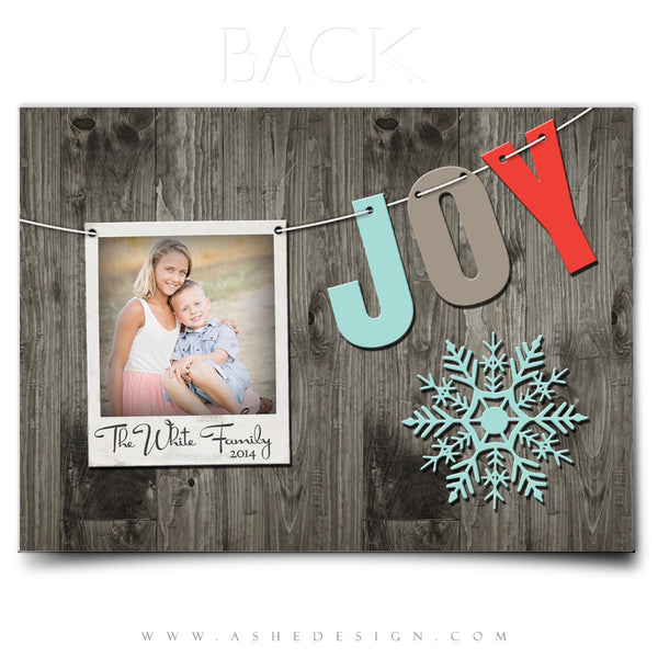 Christmas Card Photoshop Templates | Holiday Pennant back