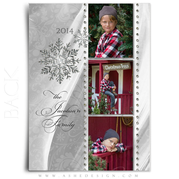 Christmas 5x7 Flat Card Templates | Dreaming Of A White Christmas back