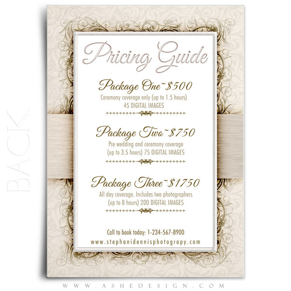 Pricing Guide 5x7 | I Do back