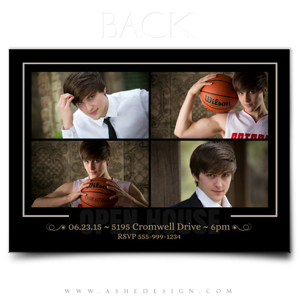 Senior Boy Graduation Invitation Template | Within You back