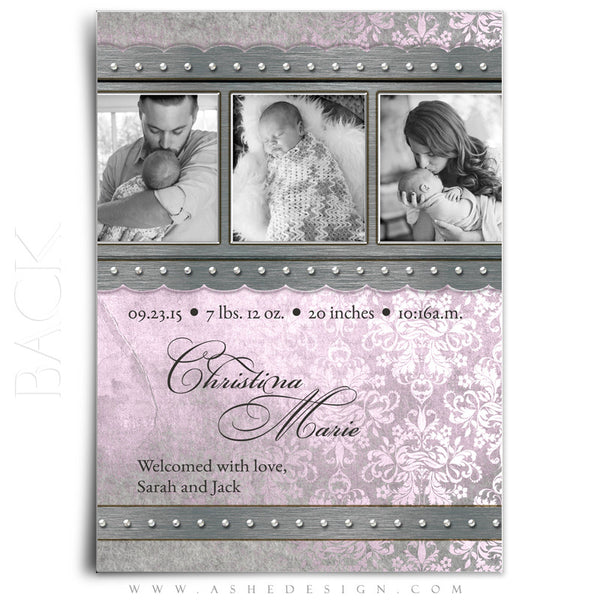 Girl Birth Announcement | Christina back