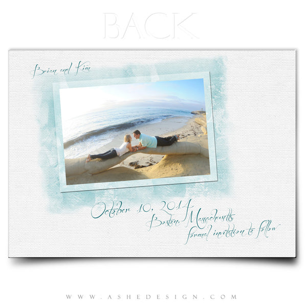 Save The Date Templates | Watercolors back