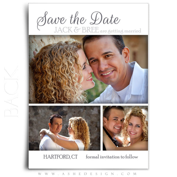 Save The Date Photography Templates | Simply Worded Love back
