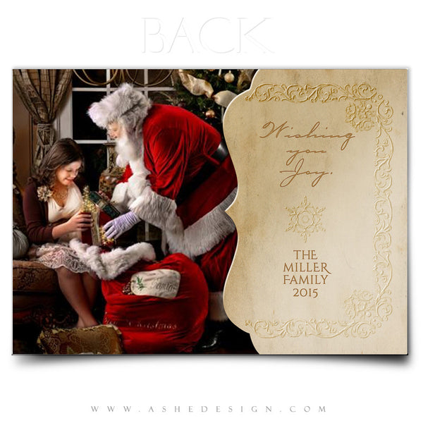 Christmas Card Template | Yesteryear back
