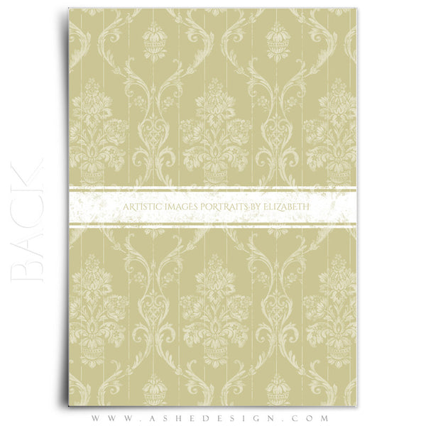 Save The Date Template | Damask Elegance back